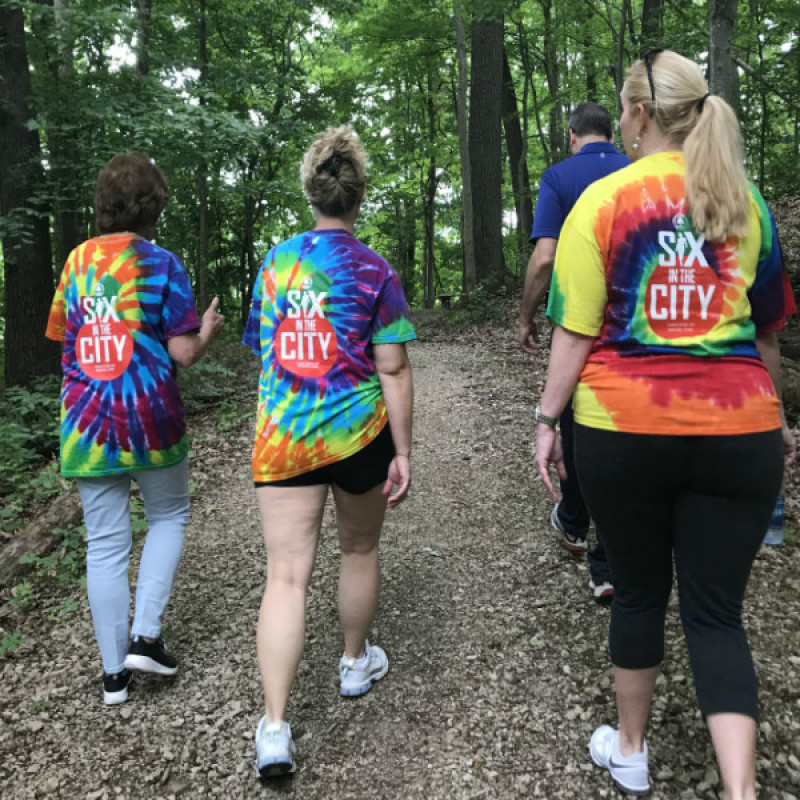 """""""Six in the City"""" City employee walking program on Cato trails"""